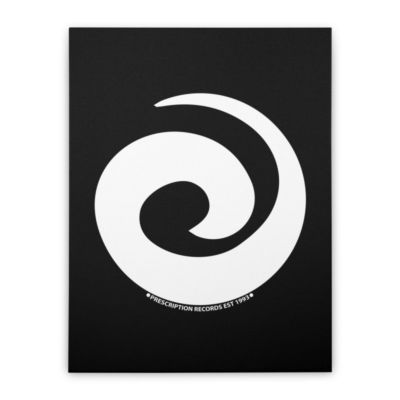 Prescription Records Anthology (White) Home Stretched Canvas by HiFi Brand