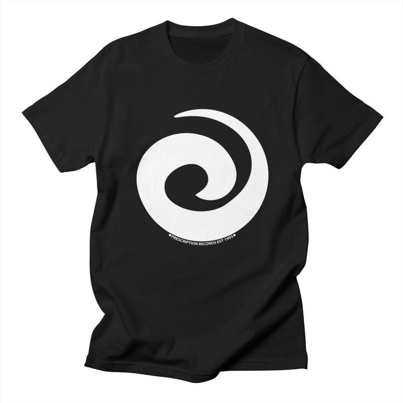 Prescription Records Anthology (White) in Men's Regular T-Shirt Black by HiFi Brand
