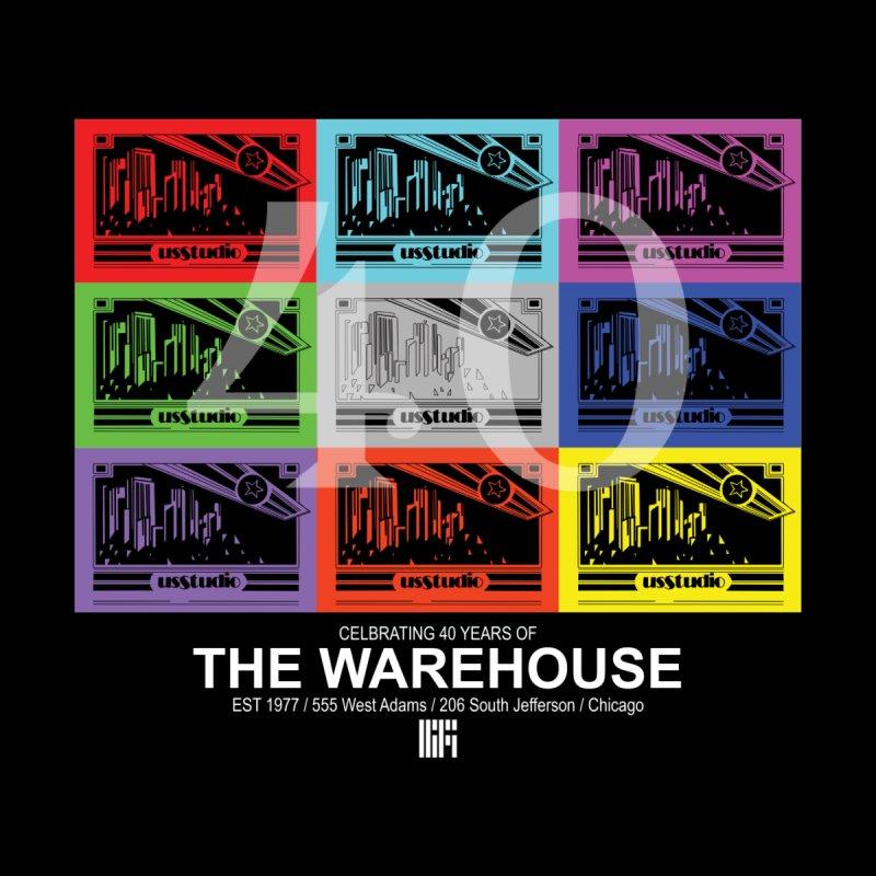 Warehouse 40th Anniversary Color Tile (White Design) Kids T-Shirt by HiFi Brand