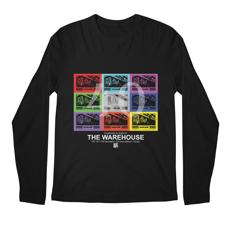 Warehouse 40th Anniversary Color Tile (White Design) Men's Longsleeve T-Shirt by HiFi Brand