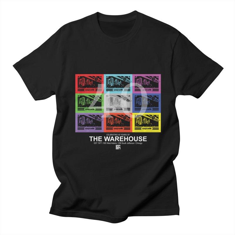 Warehouse 40th Anniversary Color Tile (White Design) Men's T-Shirt by HiFi Brand