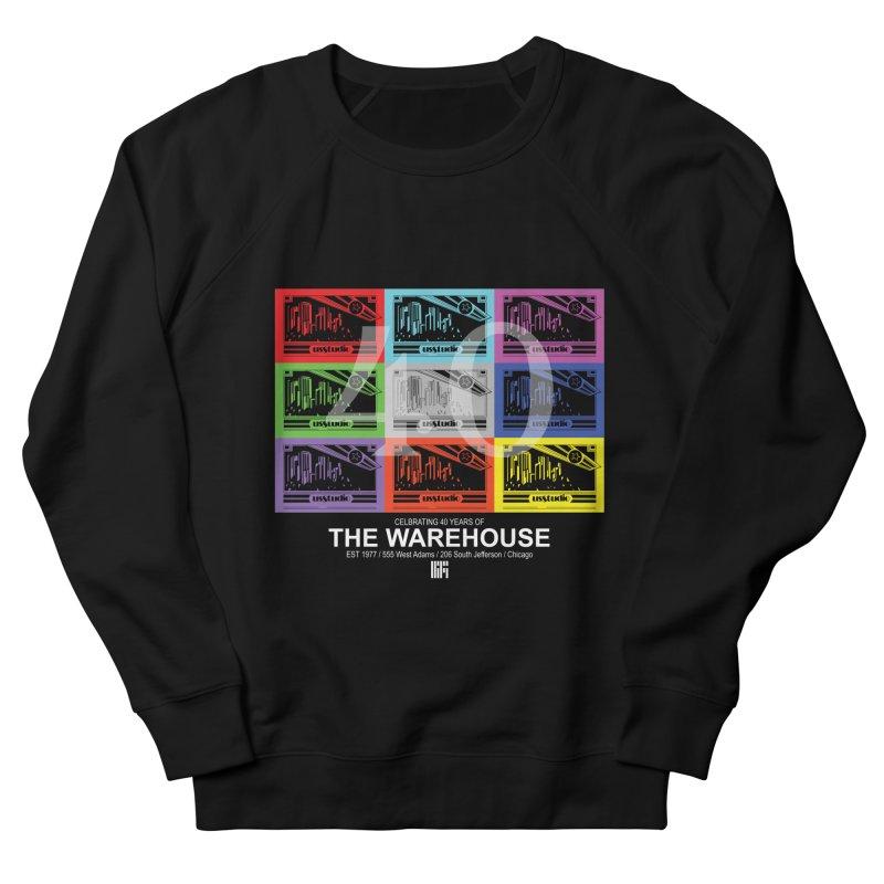 Warehouse 40th Anniversary Color Tile (White Design) Men's Sweatshirt by HiFi Brand