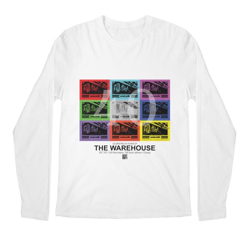 Warehouse 40th Anniversary Tile (Black Design) Men's Longsleeve T-Shirt by HiFi Brand