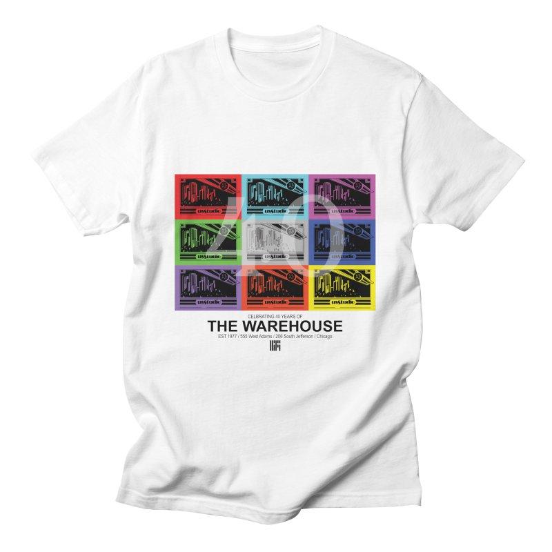 Warehouse 40th Anniversary Tile (Black Design) Men's T-Shirt by HiFi Brand