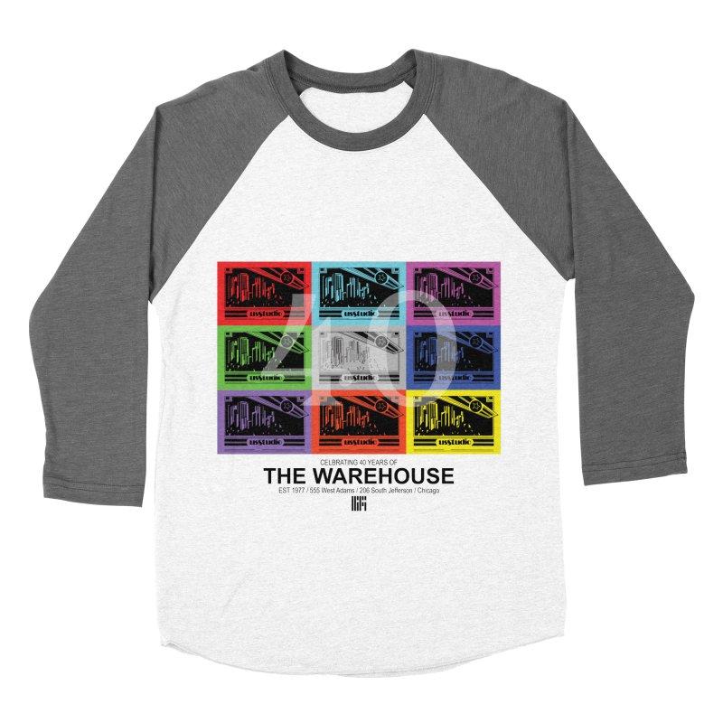 Warehouse 40th Anniversary Tile (Black Design) Women's Baseball Triblend Longsleeve T-Shirt by HiFi Brand