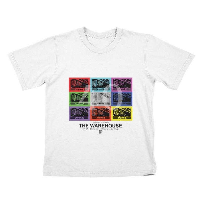 Warehouse 40th Anniversary Tile (Black Design) Kids T-Shirt by HiFi Brand