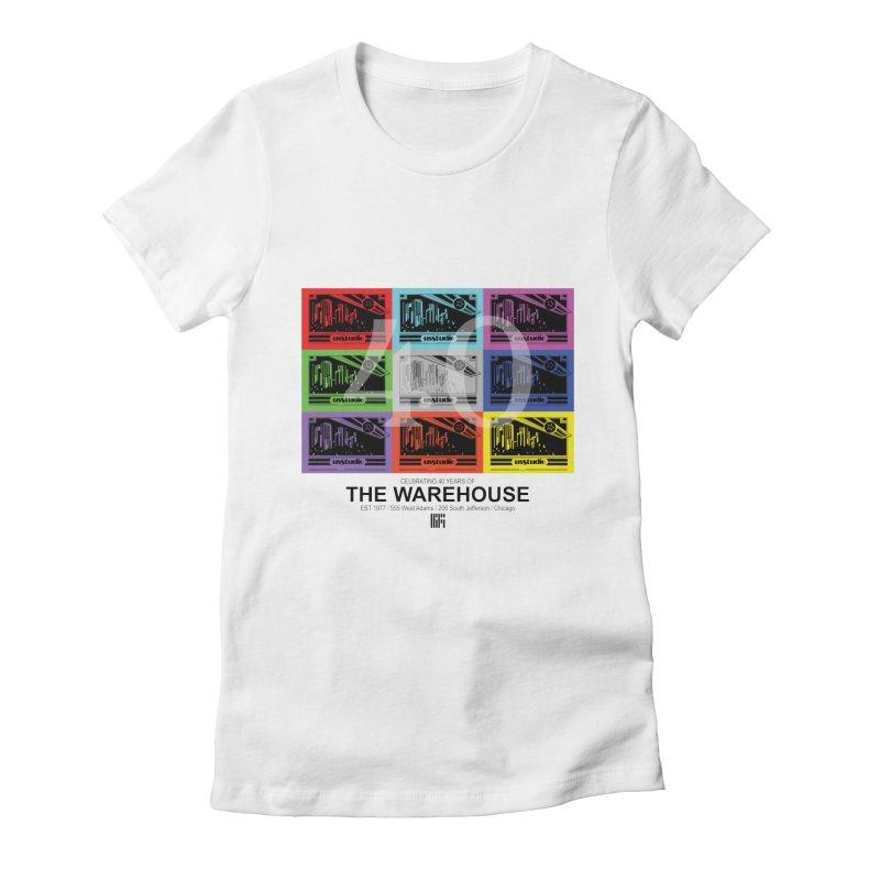 Warehouse 40th Anniversary Tile (Black Design) Women's T-Shirt by HiFi Brand