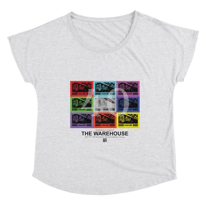 Warehouse 40th Anniversary Tile (Black Design) Women's Scoop Neck by HiFi Brand
