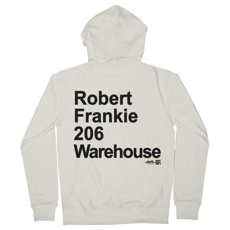 Robert Frankie 206 Warehouse (Black Design) Men's Zip-Up Hoody by HiFi Brand