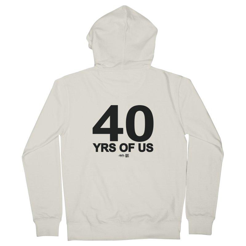 40 Yrs Of US Studio (Black Design) Men's Zip-Up Hoody by HiFi Brand