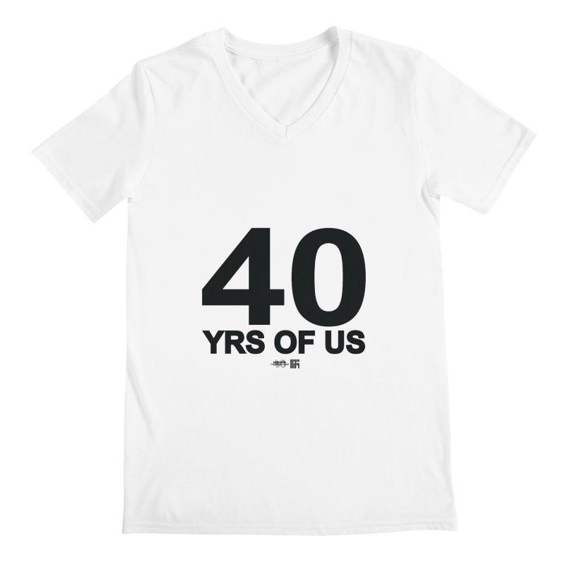 40 Yrs Of US Studio (Black Design) Men's V-Neck by HiFi Brand