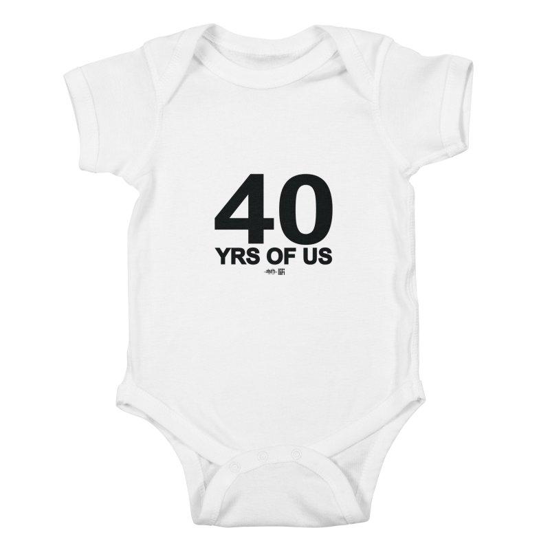 40 Yrs Of US Studio (Black Design) Kids Baby Bodysuit by HiFi Brand
