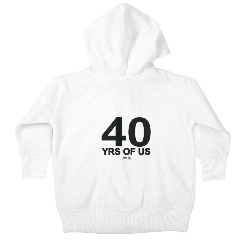 40 Yrs Of US Studio (Black Design) Kids Baby Zip-Up Hoody by HiFi Brand