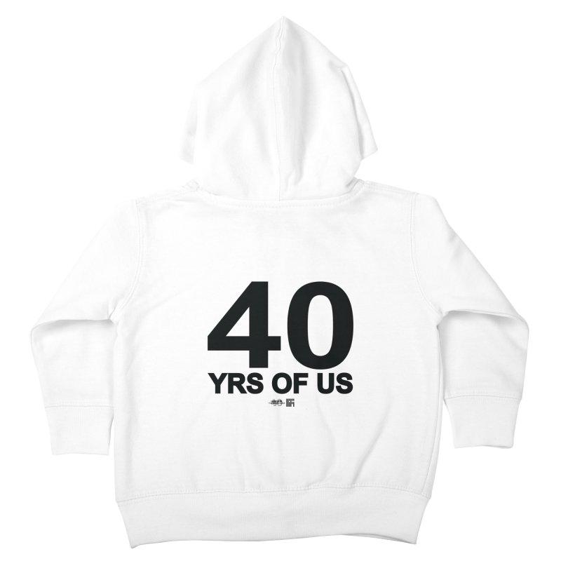 40 Yrs Of US Studio (Black Design) Kids Toddler Zip-Up Hoody by HiFi Brand