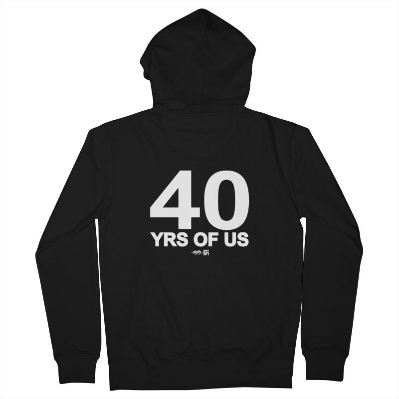 40 Yrs Of US Studio (White Design) Men's Zip-Up Hoody by HiFi Brand