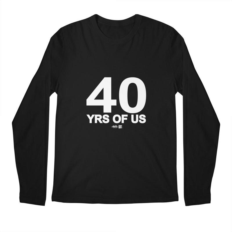 40 Yrs Of US Studio (White Design) Men's Longsleeve T-Shirt by HiFi Brand