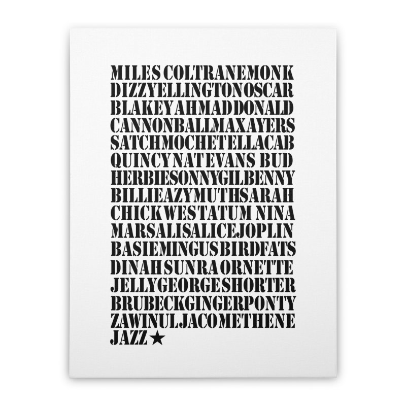 The Greats (Black Design)  Home Stretched Canvas by HiFi Brand