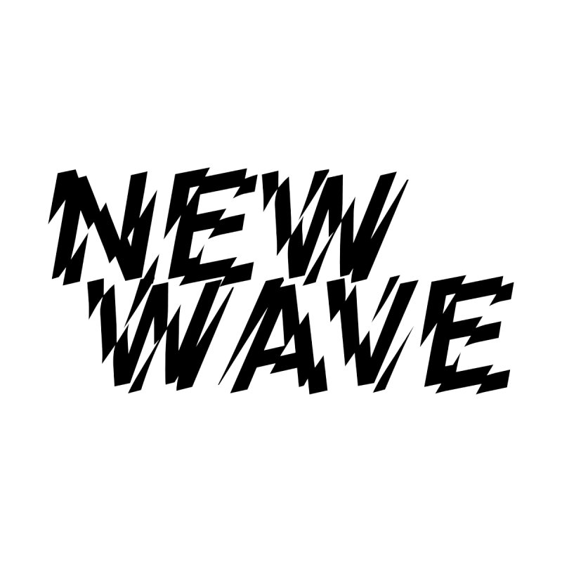 New Wave (Black Design) Home Framed Fine Art Print by HiFi Brand