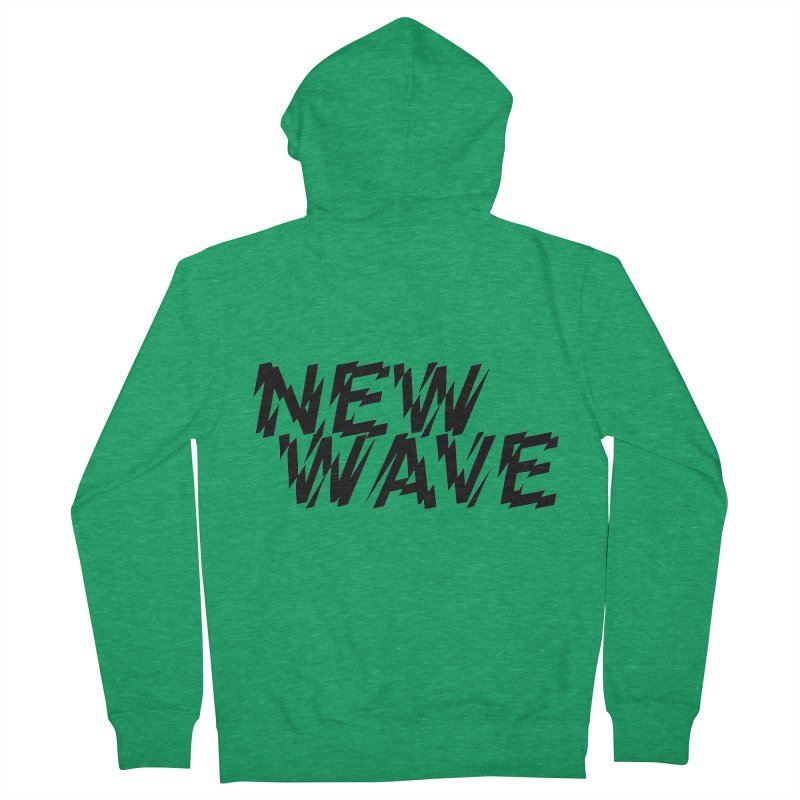 New Wave (Black Design) Men's Zip-Up Hoody by HiFi Brand