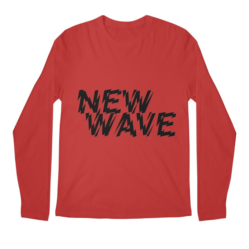 New Wave (Black Design) Men's Longsleeve T-Shirt by HiFi Brand
