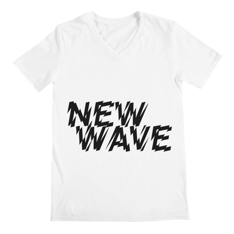 New Wave (Black Design) Men's V-Neck by HiFi Brand