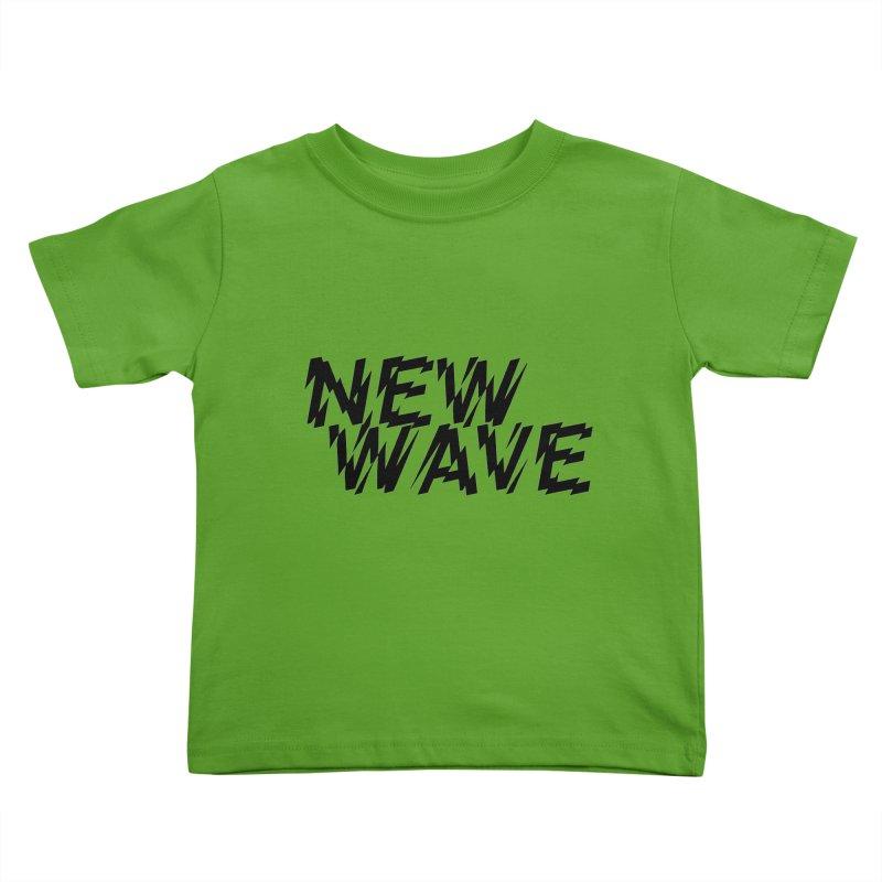 New Wave (Black Design) Kids Toddler T-Shirt by HiFi Brand