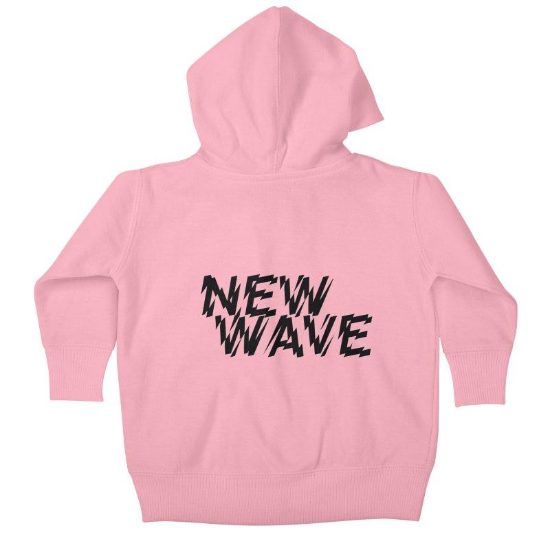 New Wave (Black Design) Kids Baby Zip-Up Hoody by HiFi Brand