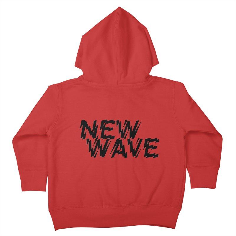 New Wave (Black Design) Kids Toddler Zip-Up Hoody by HiFi Brand