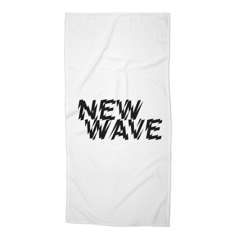 New Wave (Black Design) Accessories Beach Towel by HiFi Brand