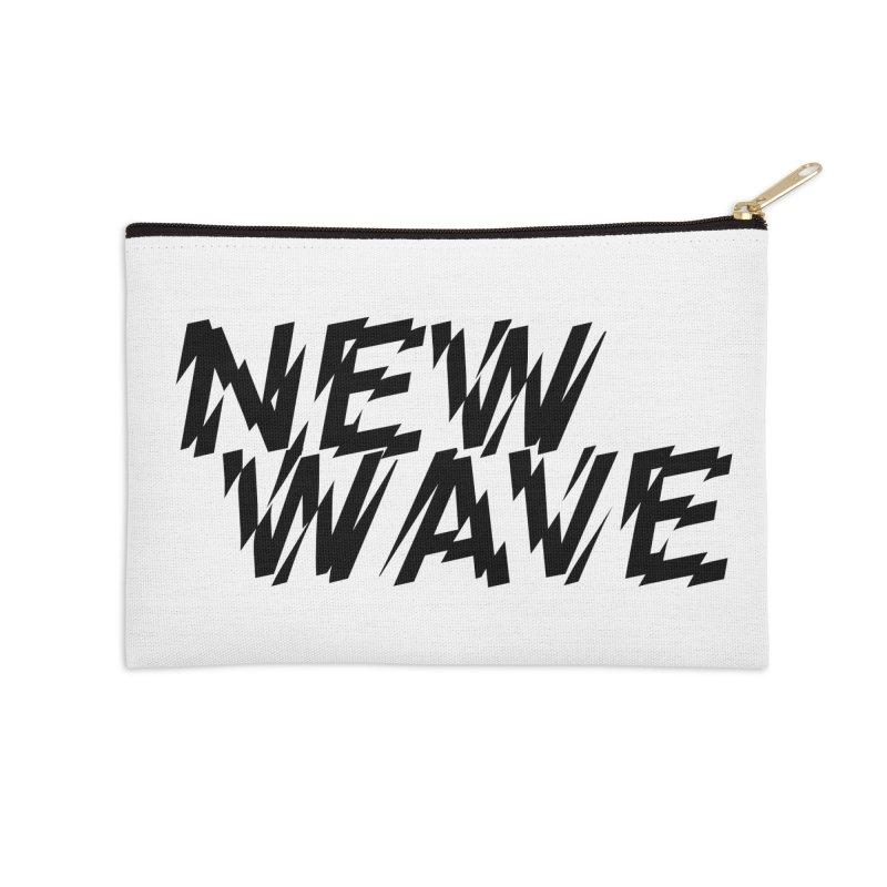 New Wave (Black Design) Accessories Zip Pouch by HiFi Brand