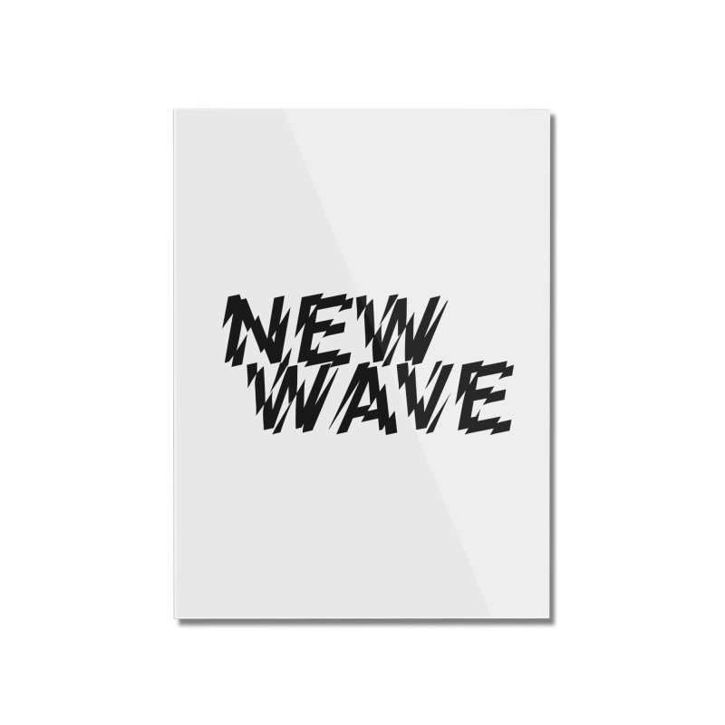 New Wave (Black Design) Home Mounted Acrylic Print by HiFi Brand