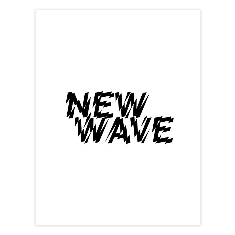 New Wave (Black Design) Home Fine Art Print by HiFi Brand
