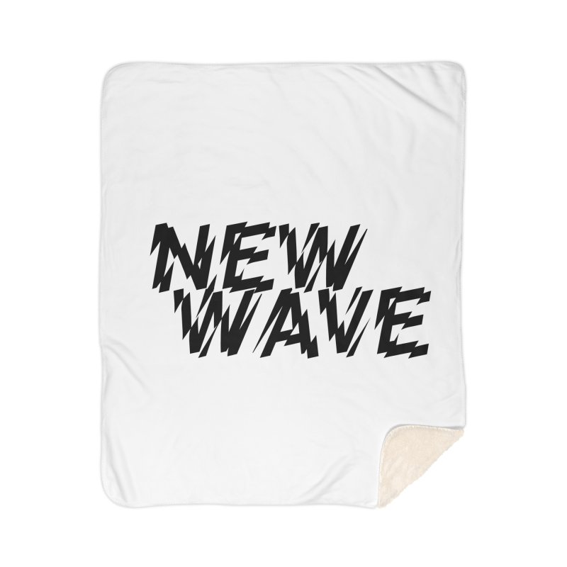 New Wave (Black Design) Home Sherpa Blanket Blanket by HiFi Brand
