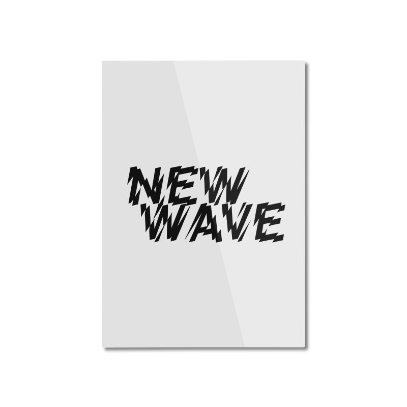New Wave (Black Design) Home Mounted Aluminum Print by HiFi Brand