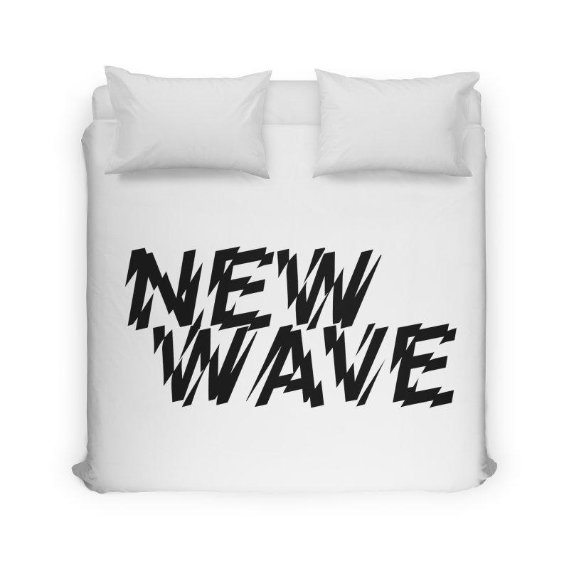 New Wave (Black Design) Home Duvet by HiFi Brand