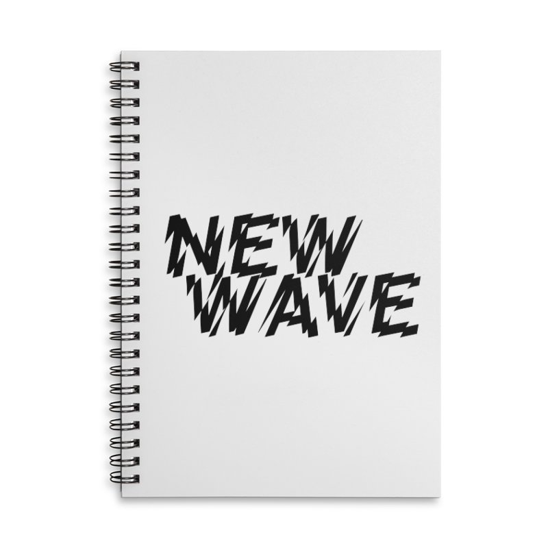 New Wave (Black Design) Accessories Notebook by HiFi Brand