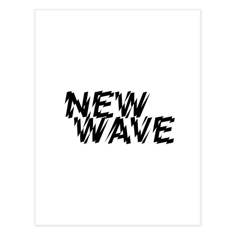 New Wave (Black Design) Home Fine Art Print by HiFi Brand