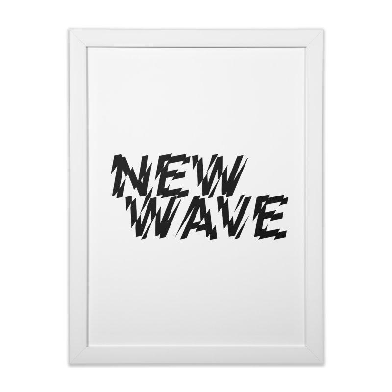 New Wave (Black Design) Home Framed Fine Art Print by HiFi Brand