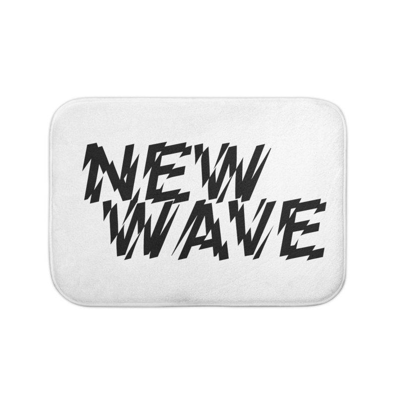 New Wave (Black Design) Home Bath Mat by HiFi Brand