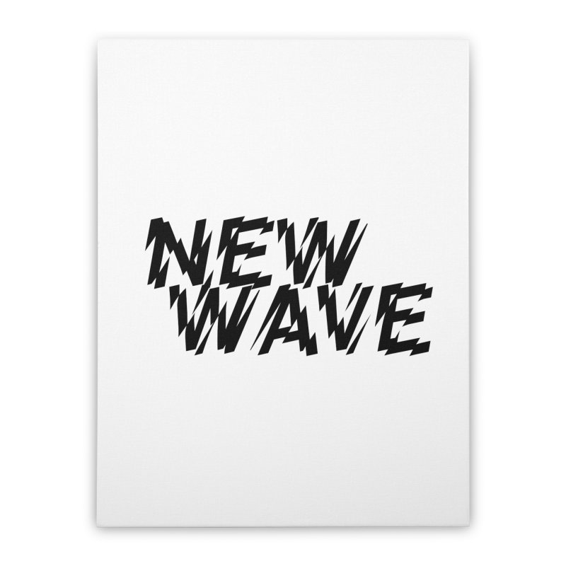 New Wave (Black Design) Home Stretched Canvas by HiFi Brand