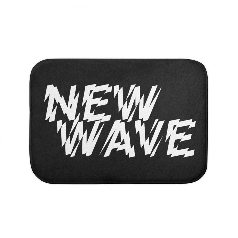 New Wave (White Design) Home Bath Mat by HiFi Brand
