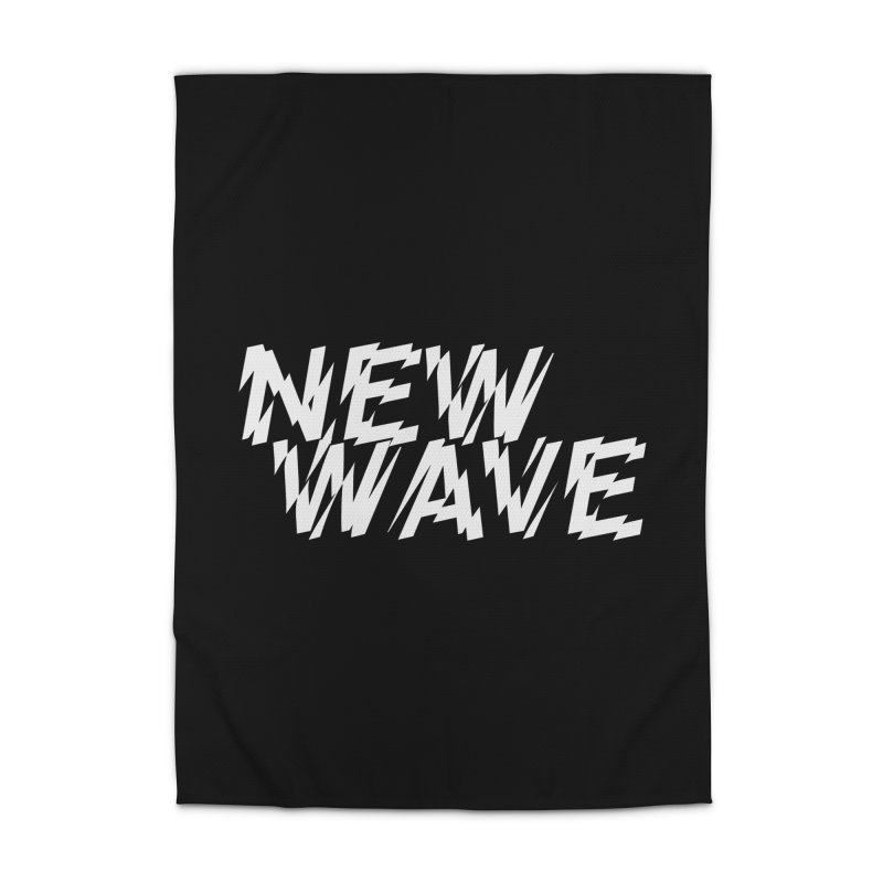 New Wave (White Design) Home Rug by HiFi Brand
