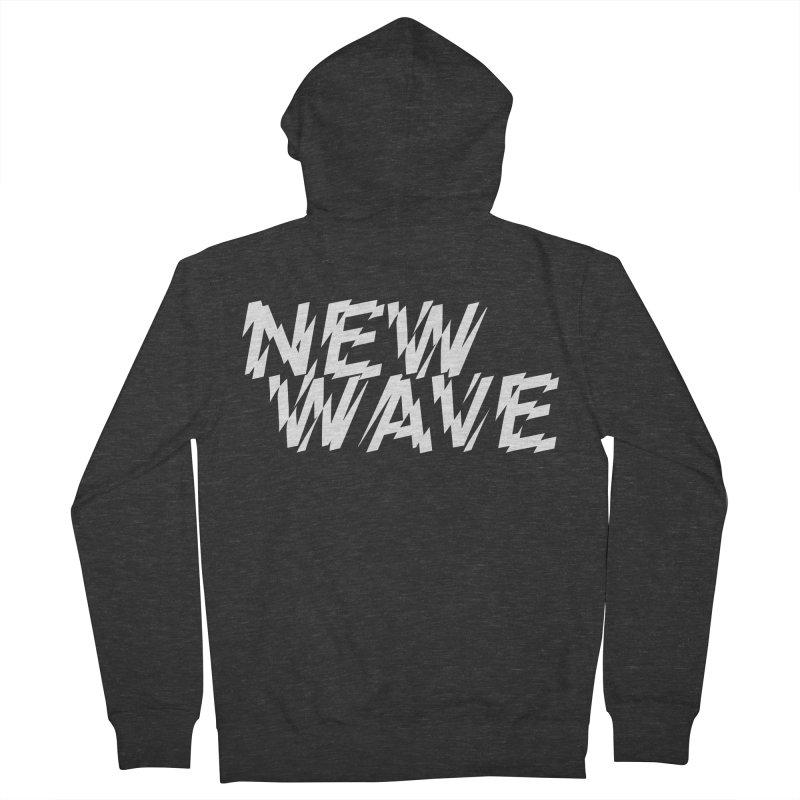 New Wave (White Design) Men's Zip-Up Hoody by HiFi Brand