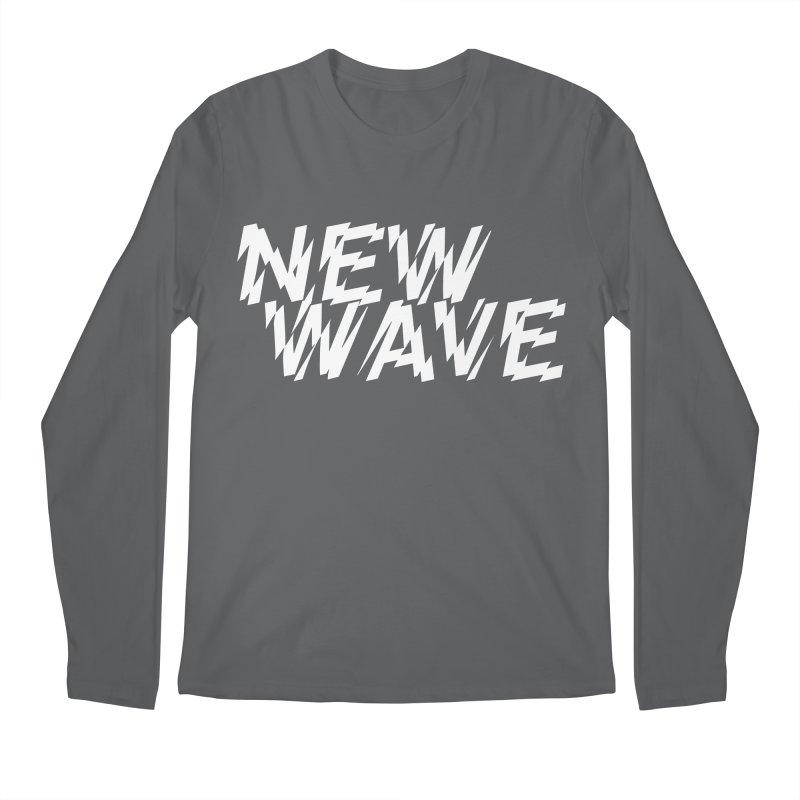 New Wave (White Design) Men's Longsleeve T-Shirt by HiFi Brand