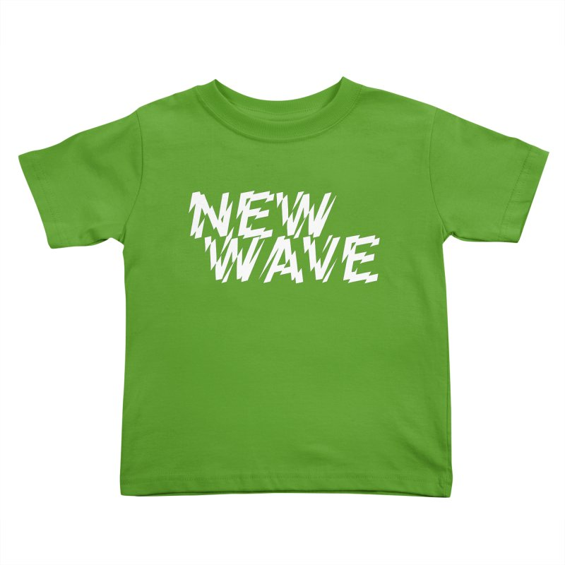 New Wave (White Design) Kids Toddler T-Shirt by HiFi Brand