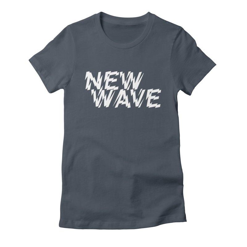 New Wave (White Design) Women's T-Shirt by HiFi Brand