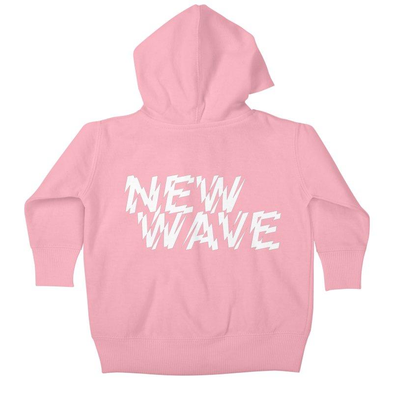 New Wave (White Design) Kids Baby Zip-Up Hoody by HiFi Brand