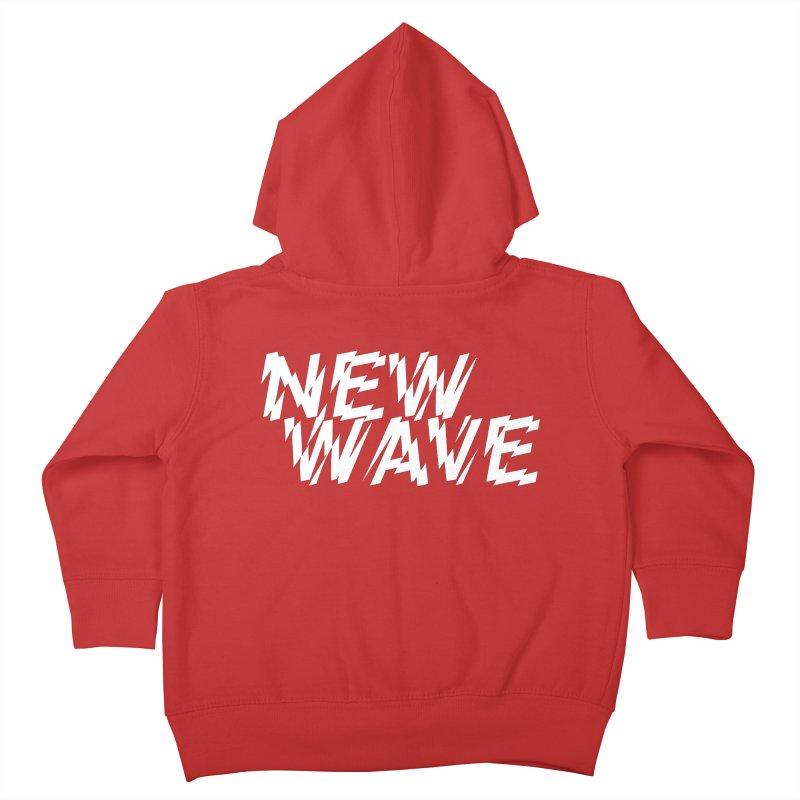 New Wave (White Design) Kids Toddler Zip-Up Hoody by HiFi Brand