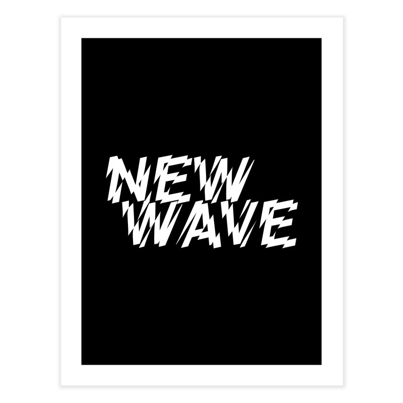 New Wave (White Design) Home Fine Art Print by HiFi Brand