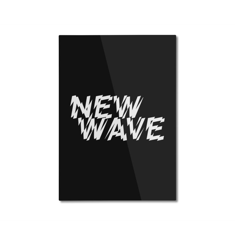 New Wave (White Design) Home Mounted Aluminum Print by HiFi Brand